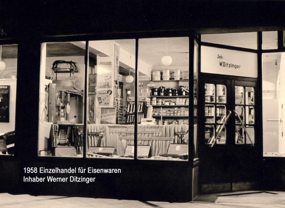 Ladeneröffnung 1958