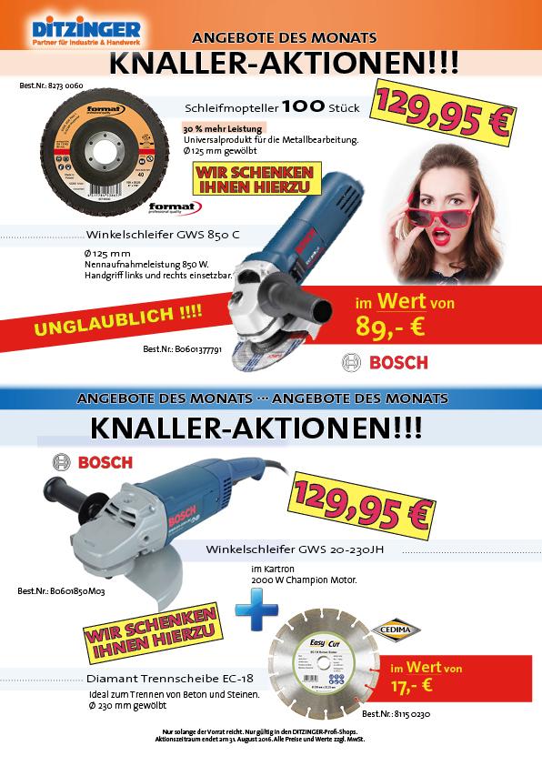 Knaller-Aktionen bei Ditzinger, Bosch Kombi Aktion, Angebote des Monats