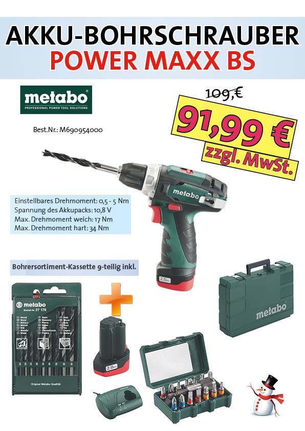 AKTIONS-Angebote von Ditzinger, Akku-Bohrschrauber, Power Maxx BS